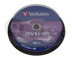 DVD+R Verbatim Advanced AZO 4,7 GB 16x 10-cake